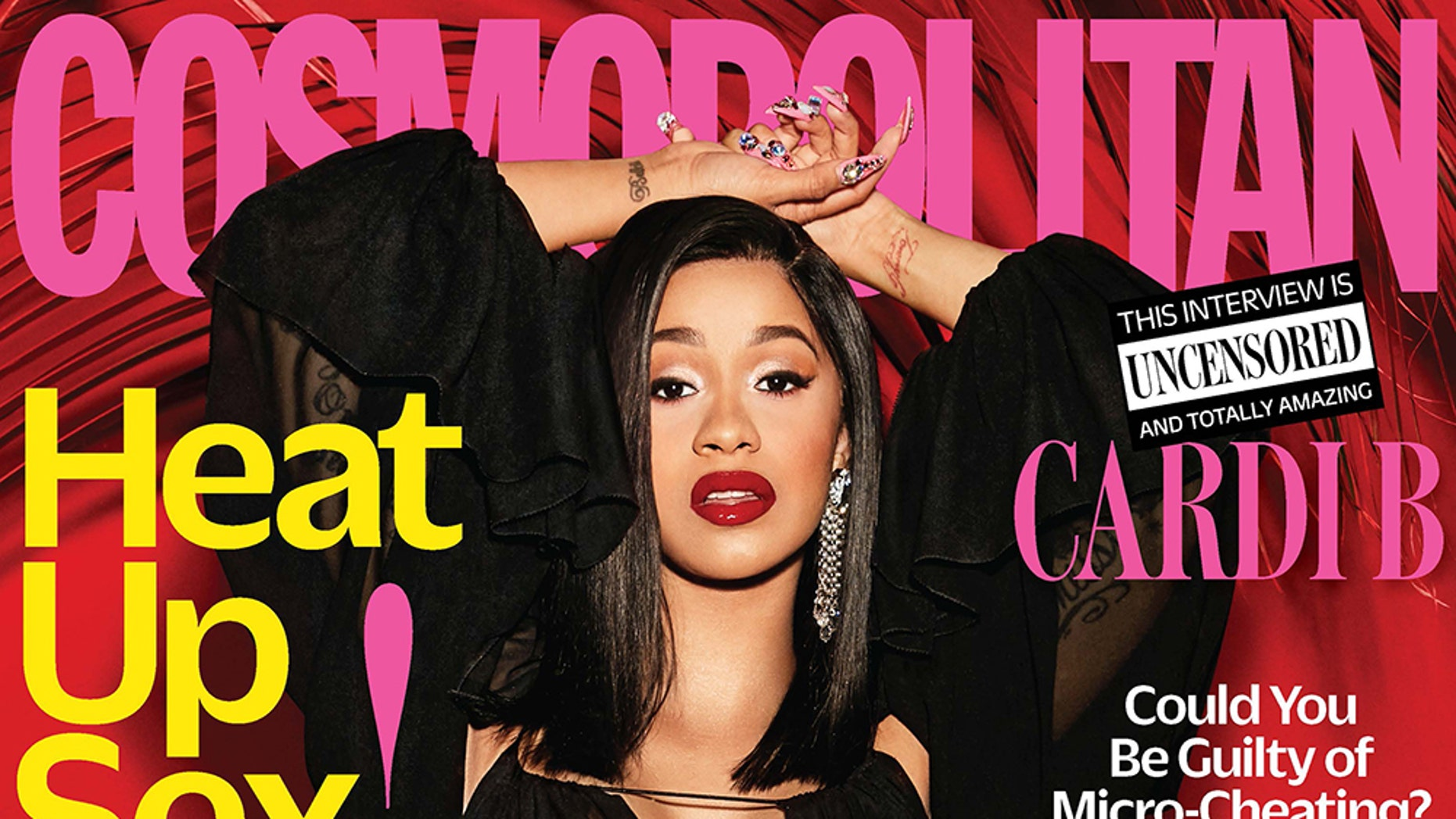 Cardi B is on the cover of Cosmopolitan's April 2018 issue.