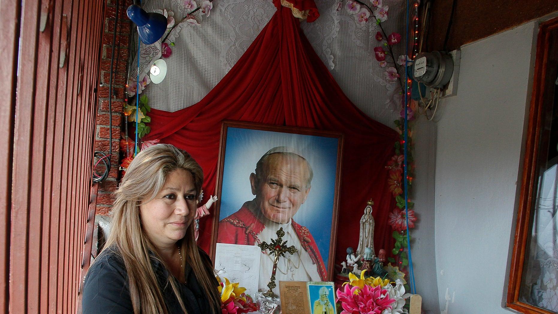 Floribeth Mora in her home in La Union de Cartago, Costa Rica, on July 5, 2013.