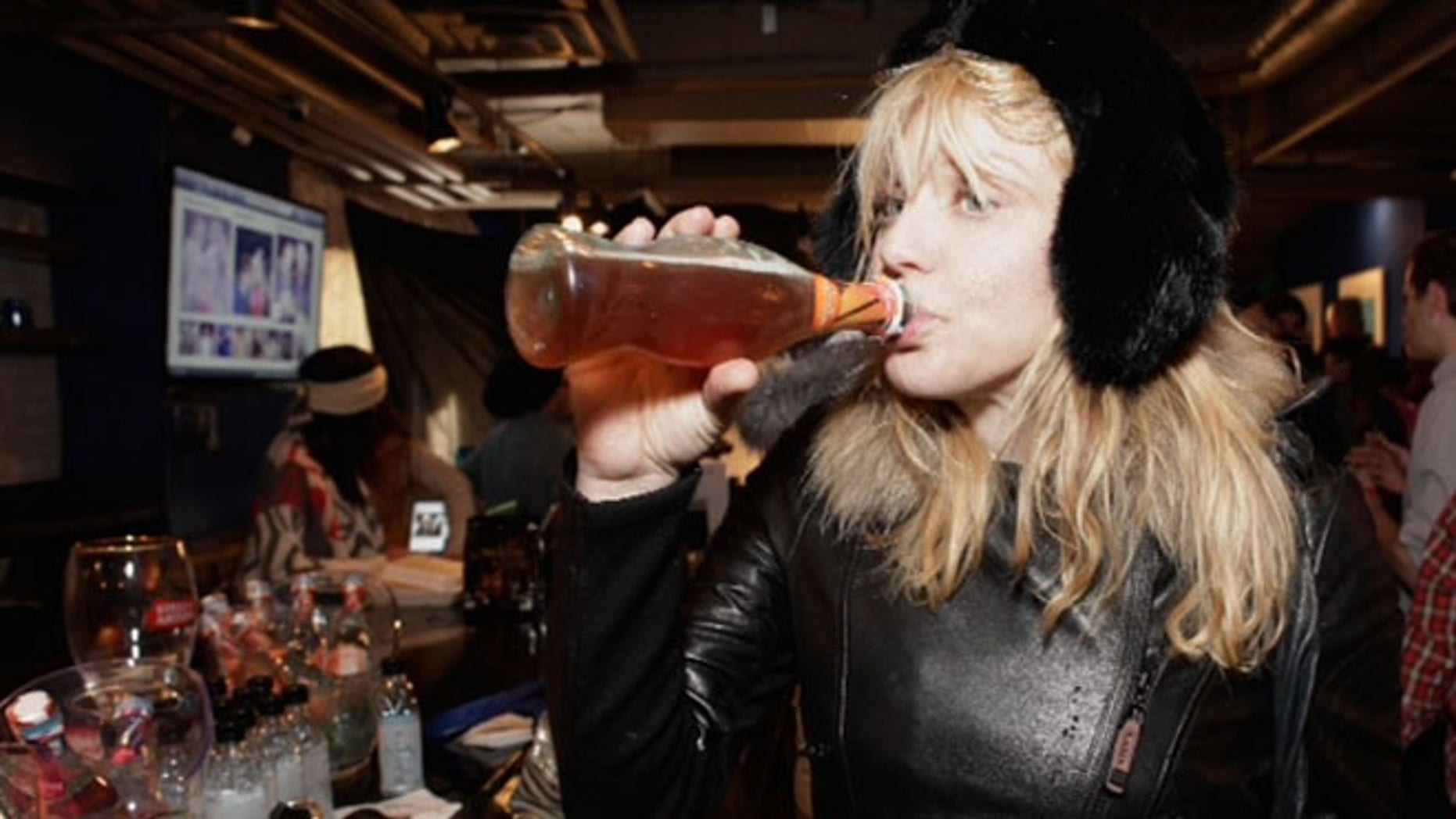 PARK CITY, UT - JANUARY 20:  Musician Courtney Love attends Day 3 of Tea of a Kind at Village At The Lift 2013 on January 20, 2013 in Park City, Utah.  (Photo by Tiffany Rose/Getty Images for Tea Of A Kind)