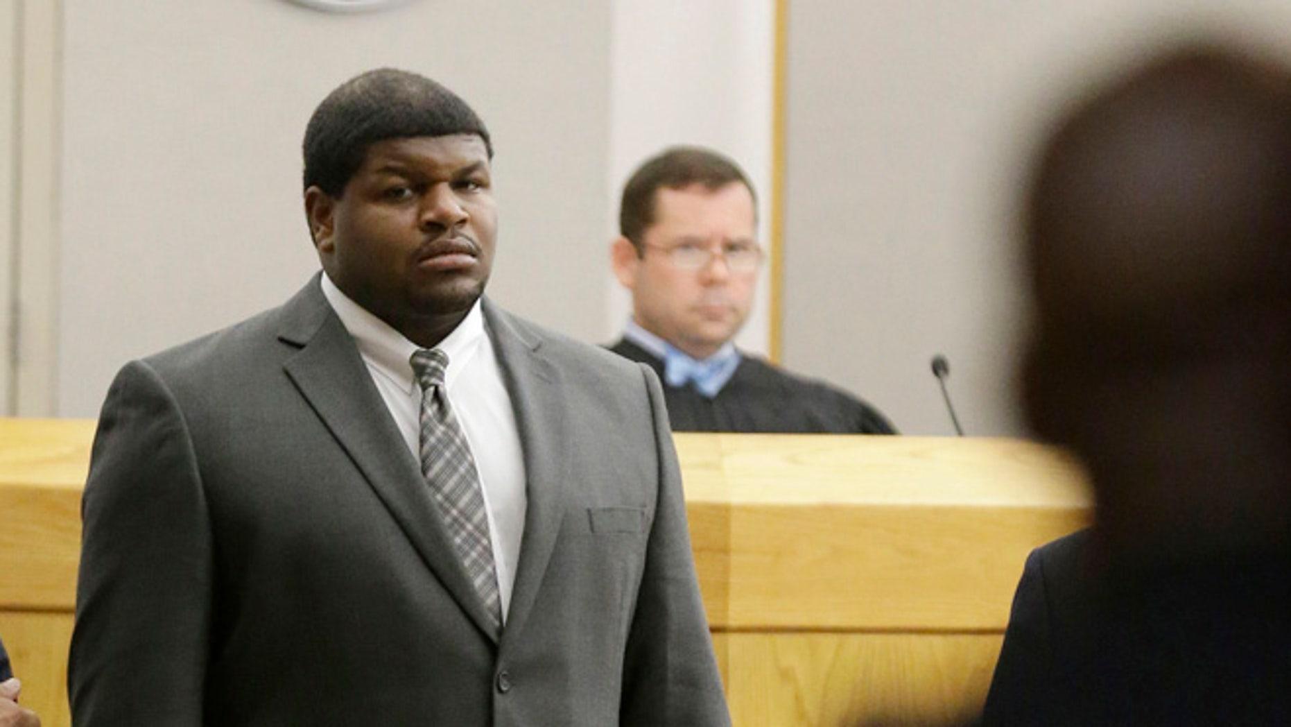 FILE 2014: Former Dallas Cowboys Josh Brent stands in court in Dallas.