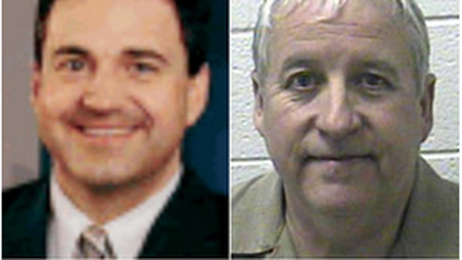 Rob Williams, left, a meteorologist, was allegedly shot with a crossbow by Gerald D. Taylor.