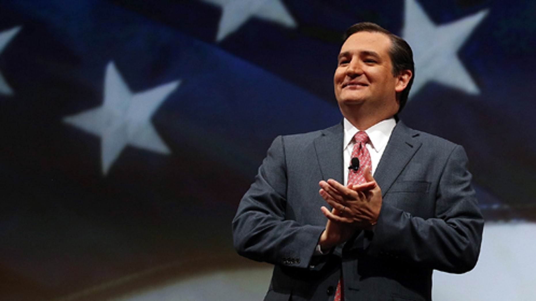 HOUSTON, TX - MAY 03:  U.S. Sen. Ted Cruz (R-TX) speaks during the 2013 NRA Annual Meeting and Exhibits at the George R. Brown Convention Center on May 3, 2013 in Houston, Texas.  More than 70,000 peope are expected to attend the NRA's 3-day annual meeting that features nearly 550 exhibitors, gun trade show and a political rally. The Show runs from May 3-5.  (Photo by Justin Sullivan/Getty Images)