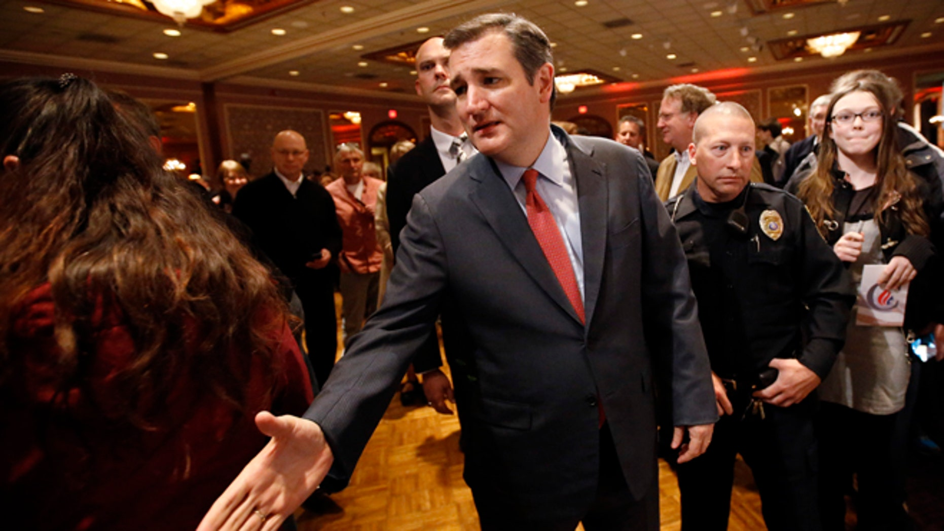 Sen. Ted Cruz at a campaign stop Wednesday, March 23, 2016, in Pewaukee, Wis.