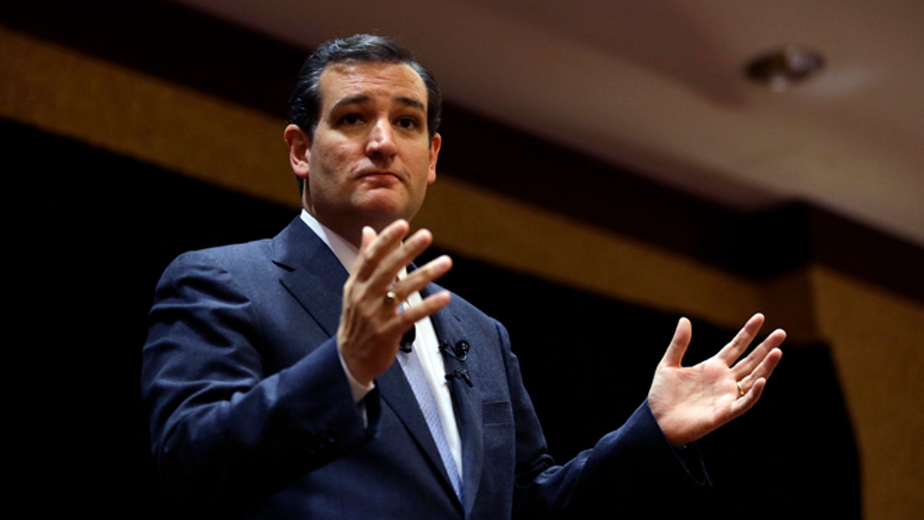 Mar. 18, 2014: Sen. Ted Cruz, R-Texas, speaks at the Network of Iowa Christian Home Educatorsâ state Capitol day event in Des Moines, Iowa.