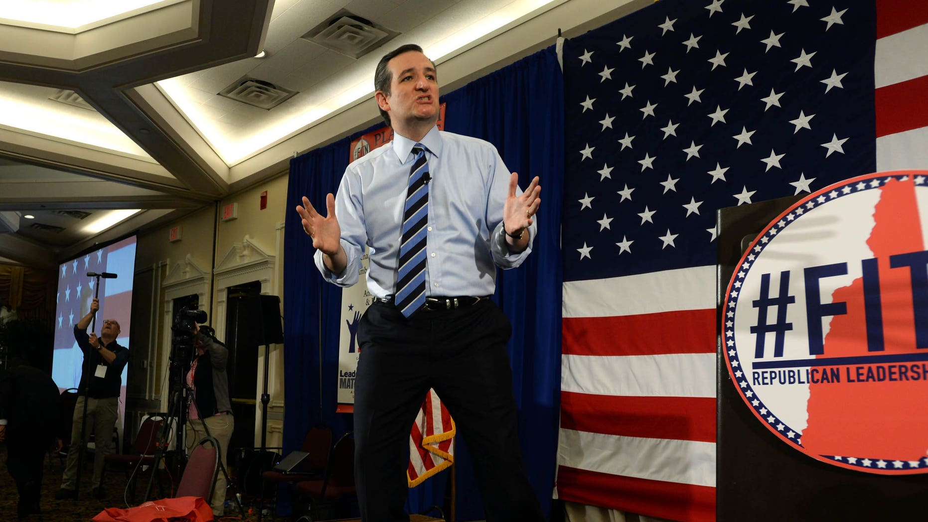 NASHUA, NH - APRIL 18: U.S. Sen. Ted Cruz (R-TX) speaks at the First in the Nation Republican Leadership Summit April 18, 2015 in Nashua, New Hampshire. The Summit  brought together local and national Republicans and was attended by all the Republicans candidates as well as those eyeing a run for the nomination. (Photo by Darren McCollester/Getty Images)