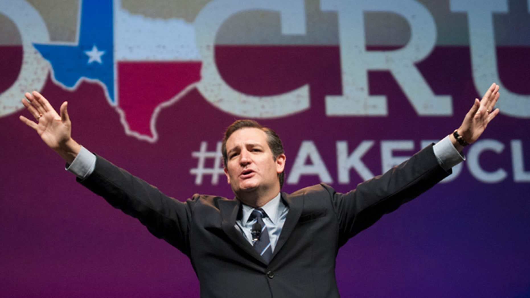 June 6, 2014: Sen. Ted Cruz address delegates at the Texas GOP Convention in Fort Worth, Texas.