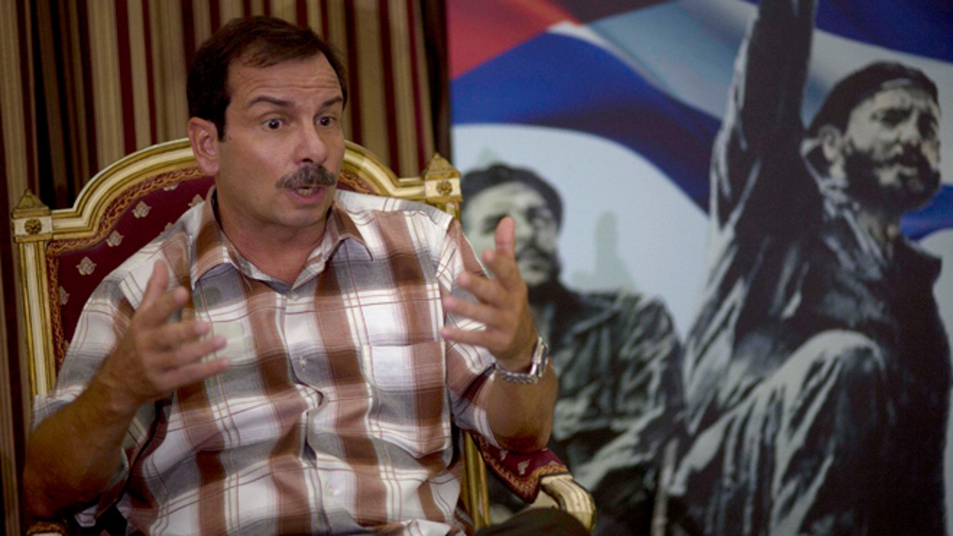 Fernando Gonzalez, a member of the Cuban Five, during an interview in Havana, Cuba, Thursday, Sept. 4, 2014.