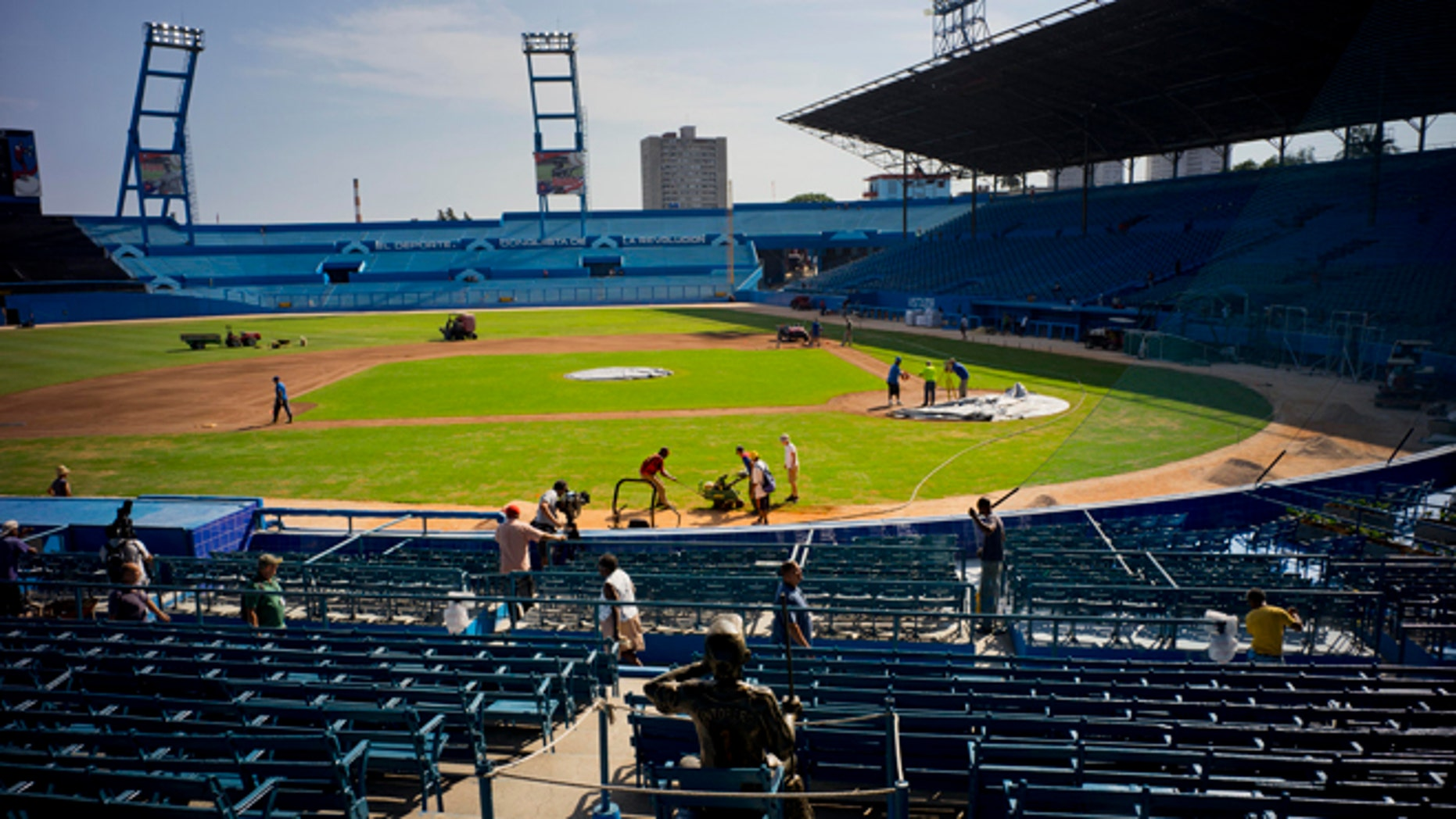 Havana's Latinoamericano stadium on Wednesday, March 16, 2016.