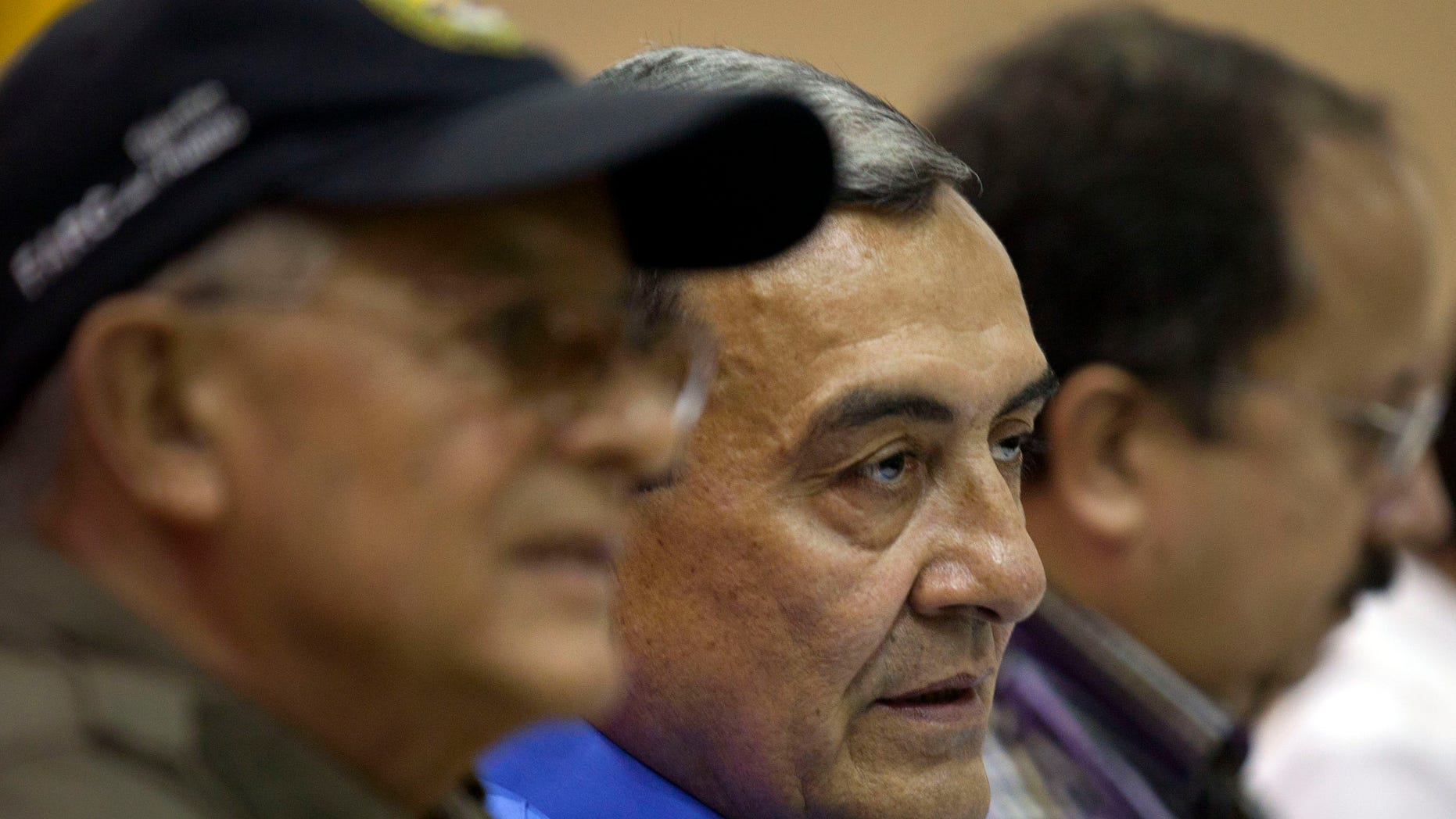 Sept. 6, 2012: Mauricio Jaramillo, a spokesman and top leader of the Revolutionary Armed Forces of Colombia, or FARC, attends a press conference with other FARC members in Havana, Cuba.
