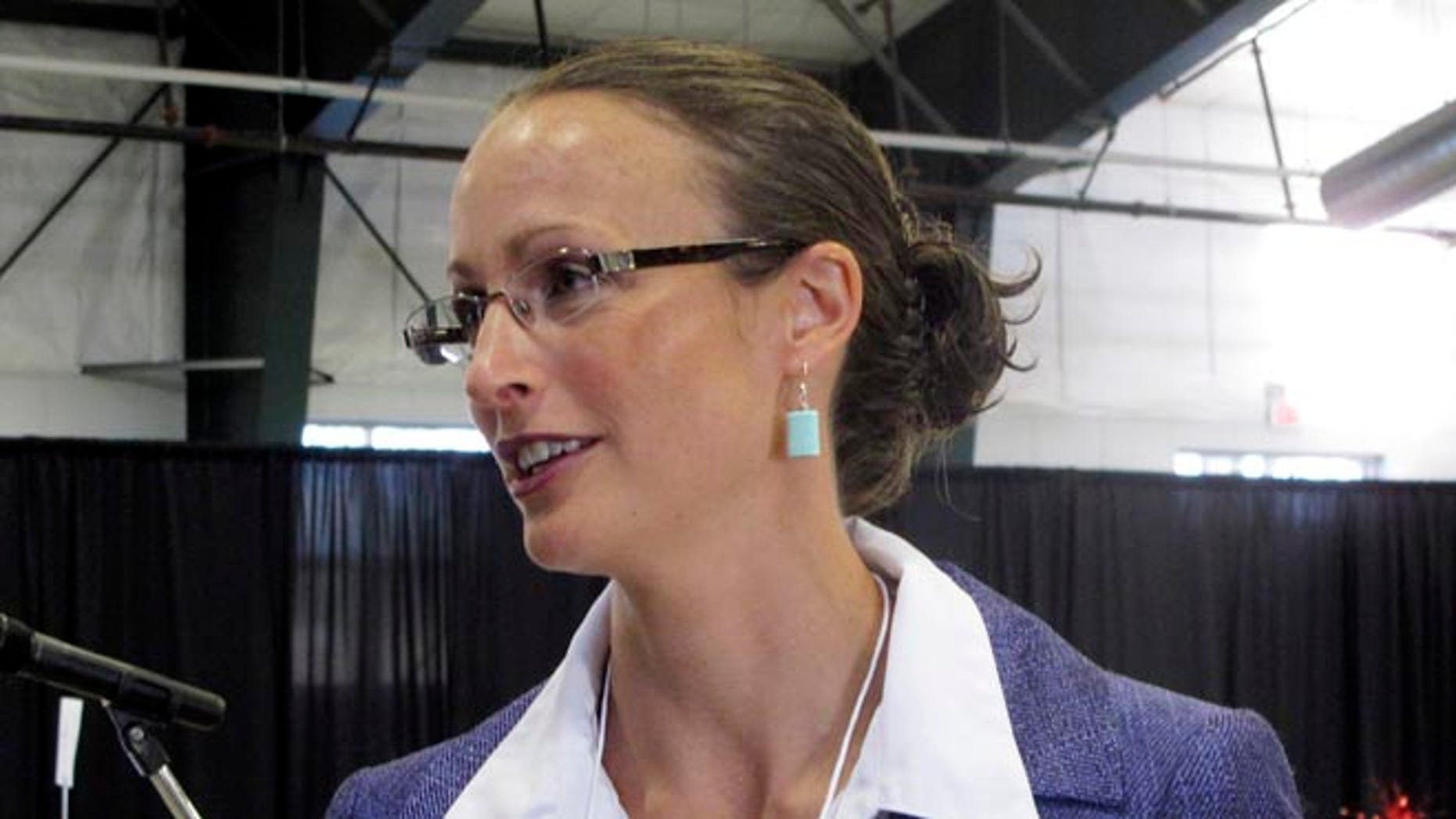 Aug. 16, 2014: Amanda Curtis at the Montana Democratic Party's special nominating convention in Helena, Montana.