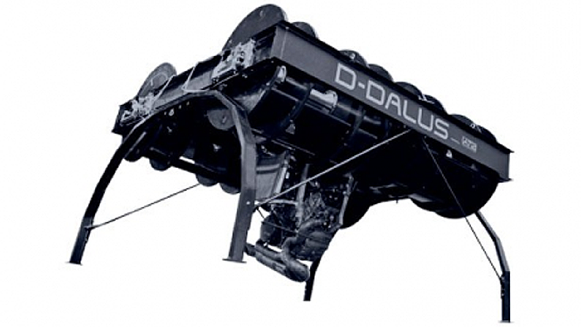 The D Dalus system uses four contra-rotating turbines for propulsion, rather than wings, rotating blades and jet engines.