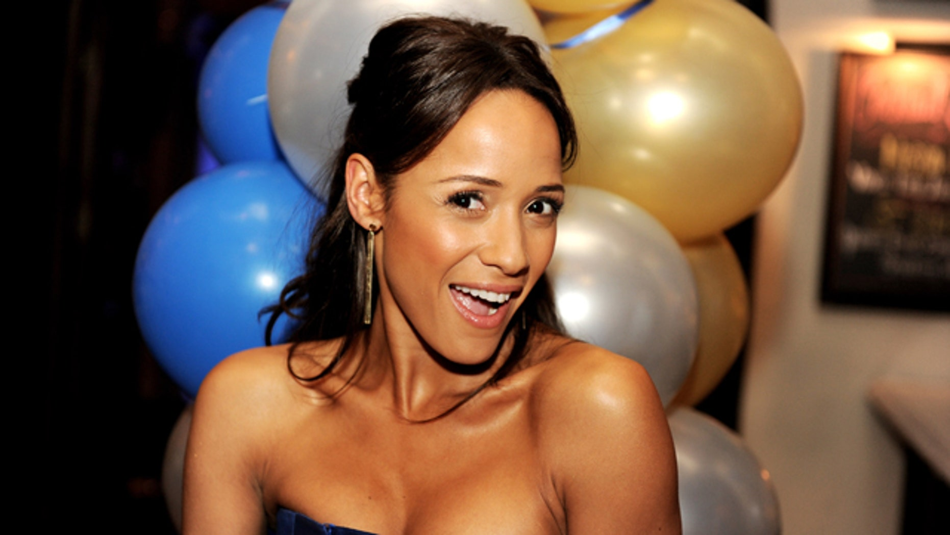 "Actress Dania Ramirez poses at the after party for the premiere of Universal Pictures' ""American Reunion"" at the Roosevelt Hotel on March 19, 2012 in Los Angeles, California."