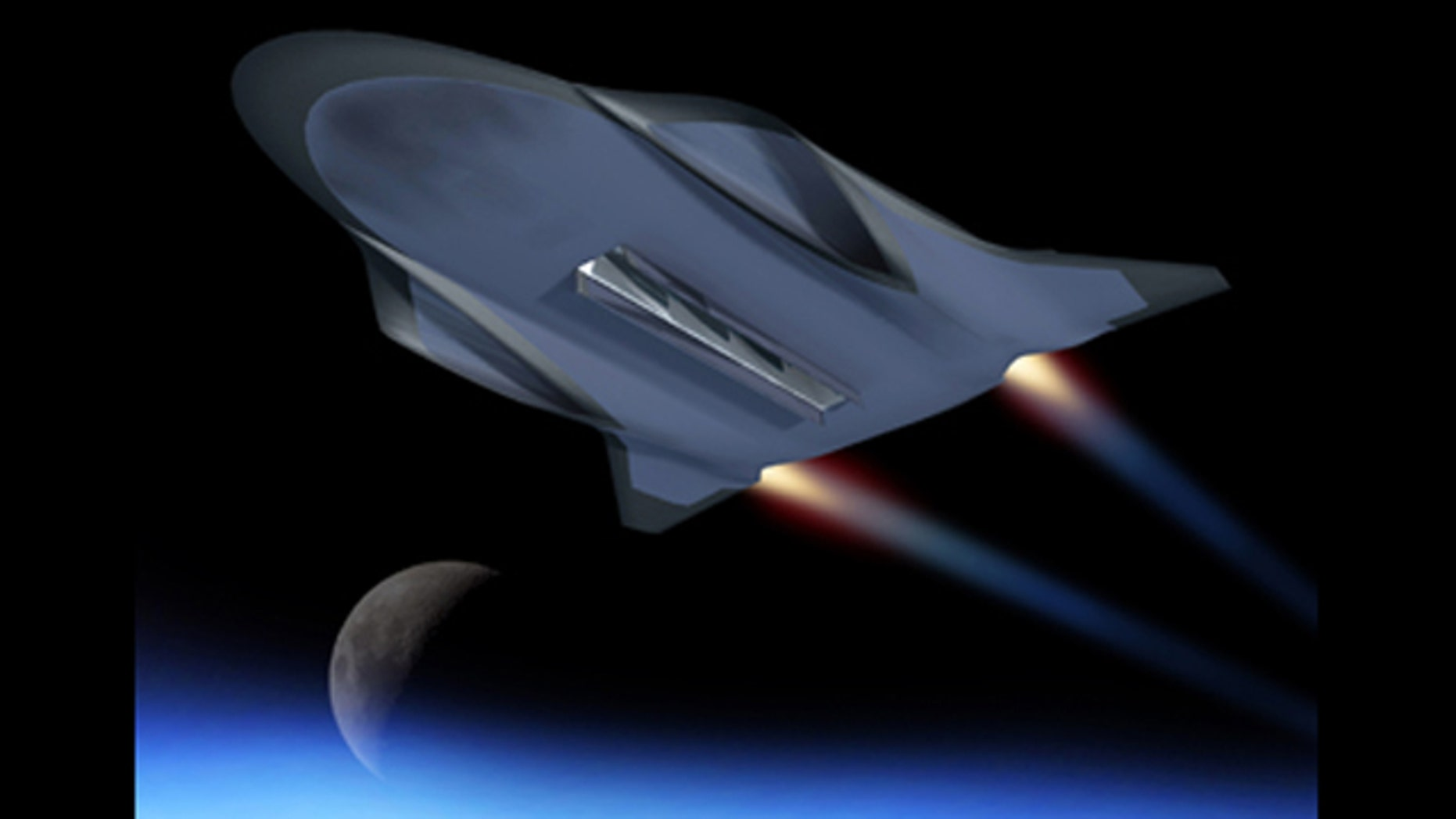 This conceptual image shows DARPA's original vision of the hypersonic glider, now known as the Falcon Hypersonic Technology Vehicle 2.