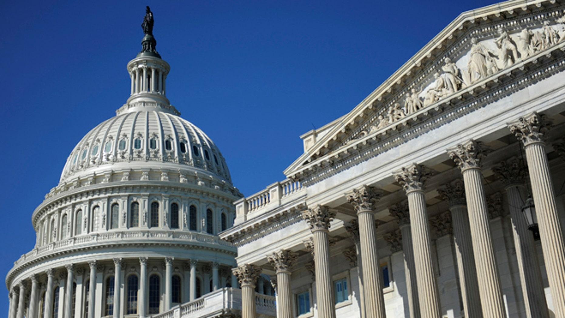 August 2, 2011 file photo of the U.S. Capitol dome and U.S. Senate in Washington.