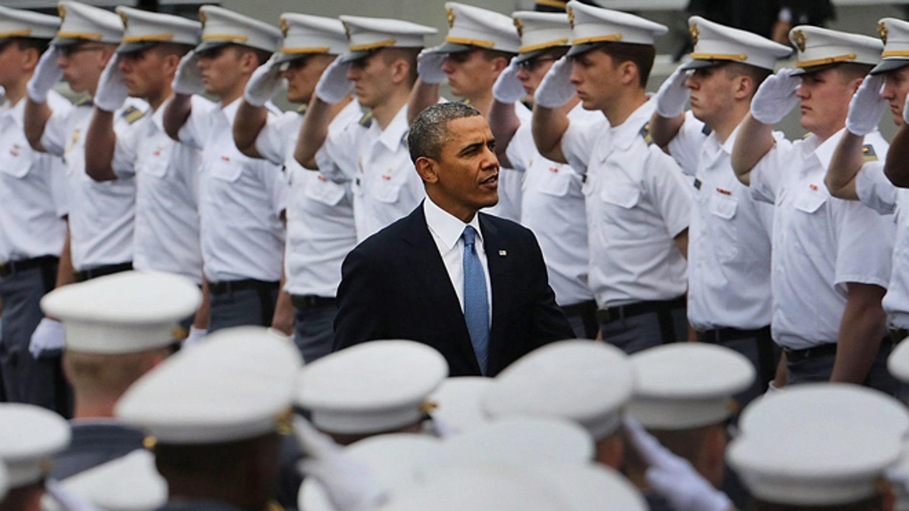 President Obama at the graduation ceremony at the U.S. Military Academy on May 28, 2014 in West Point, New York.