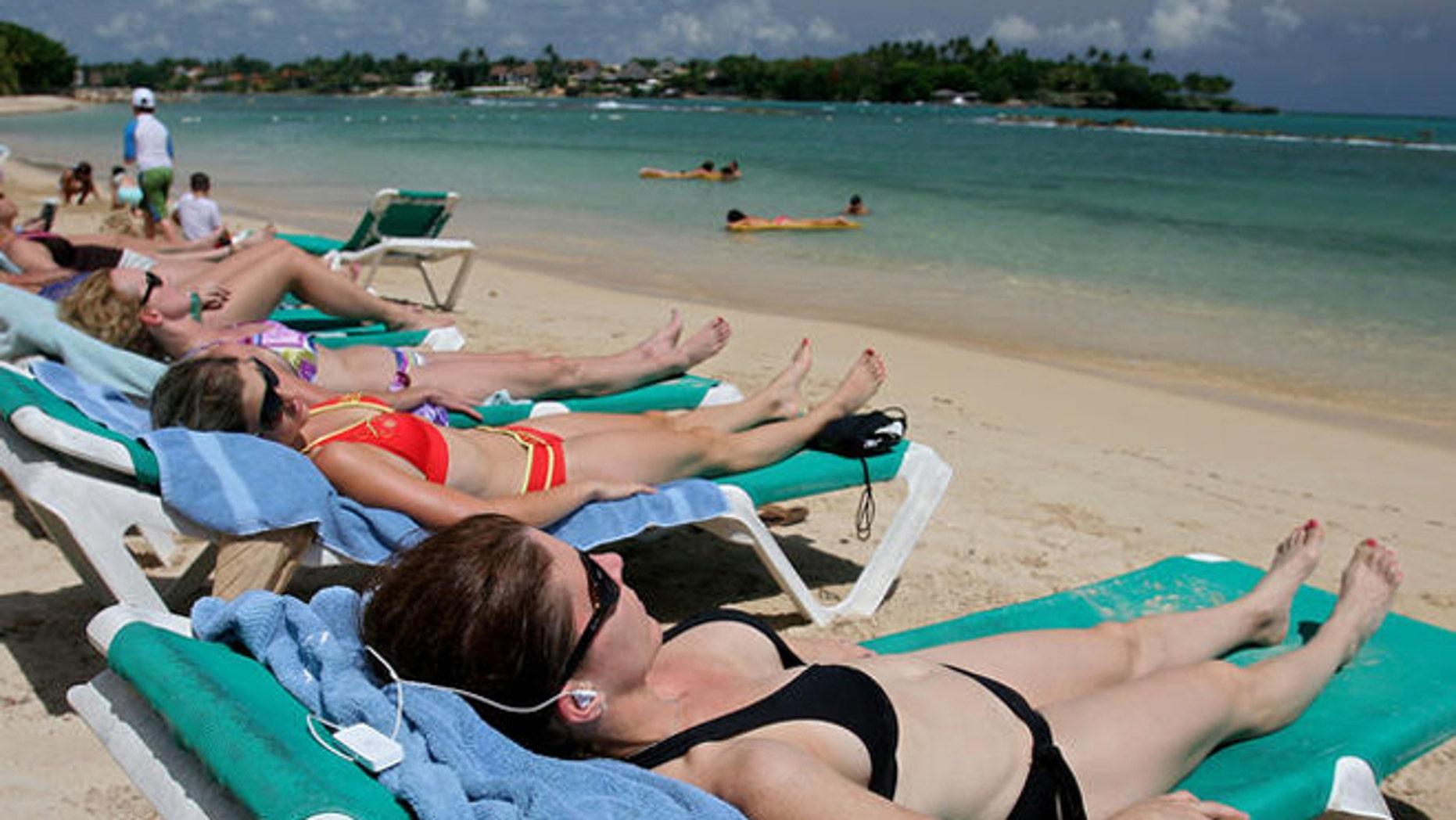 American tourists at the Casa de Campo resort  in La Romana, 70 miles east of Santo Domingo, Dominican Republic.