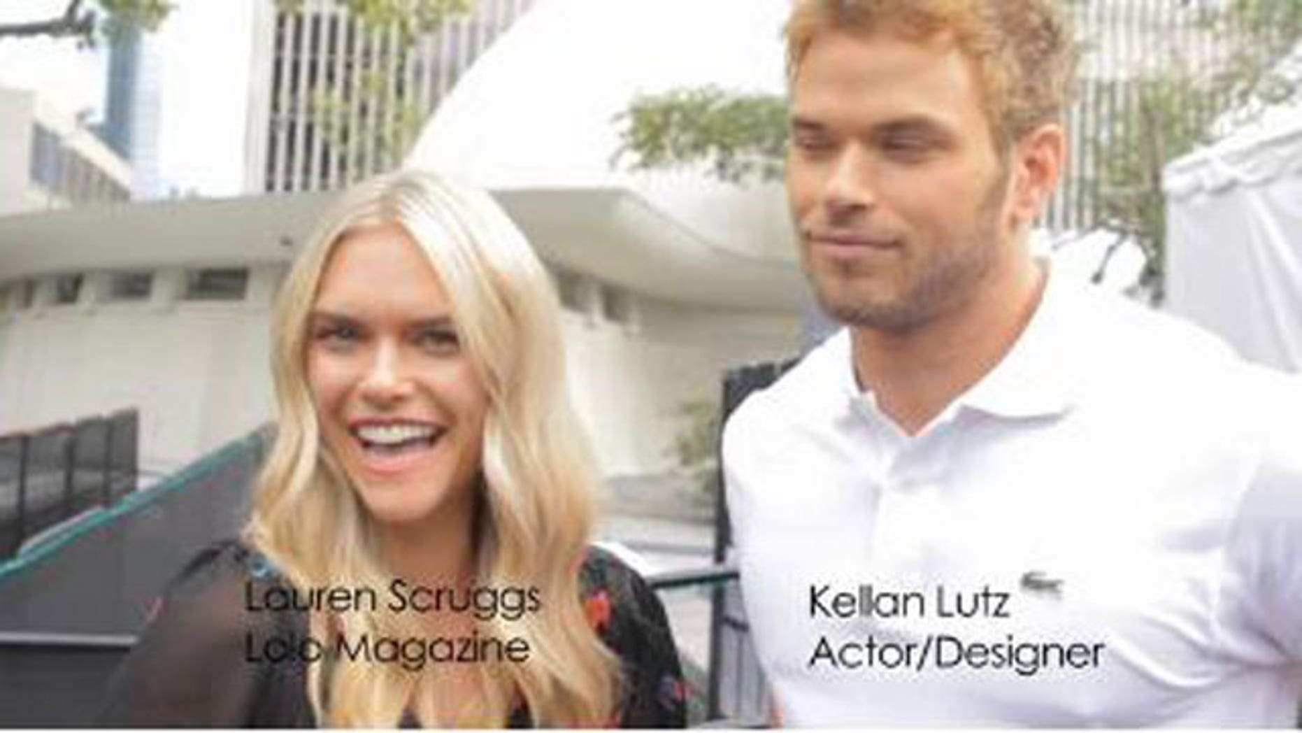 LoLo magazine editor and model Lauren Scruggs interviewing Kellan Lutz (LoLo/Vimeo)