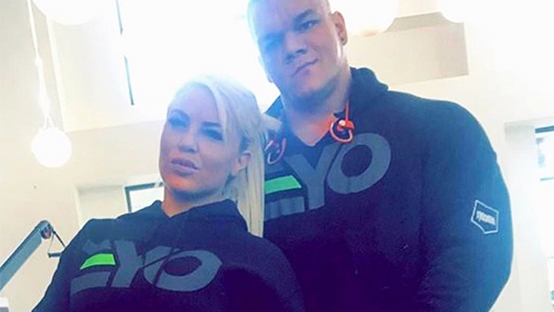 WWE star Dana Brooke with late boyfriend Dallas McCarver.