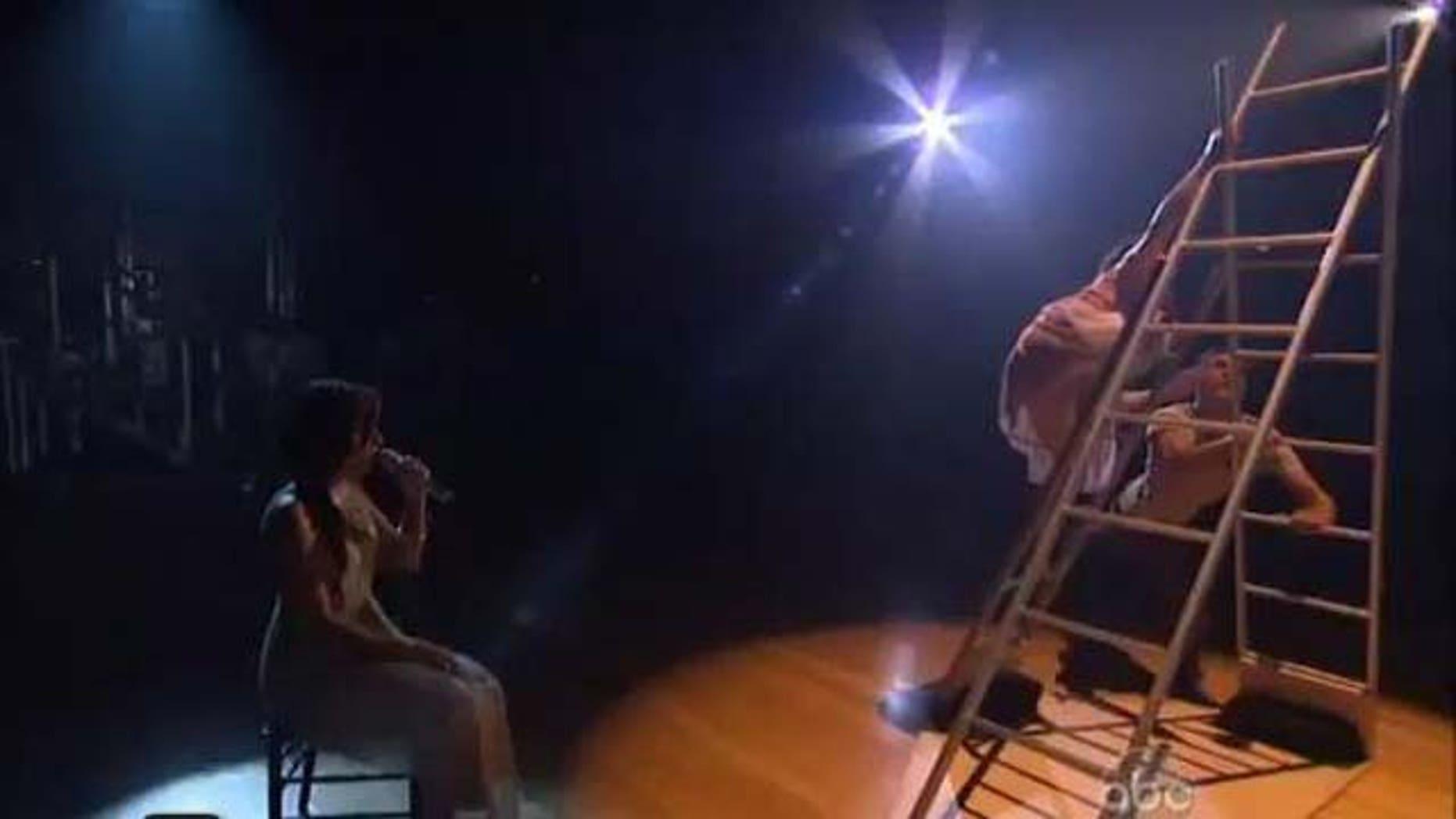 "Sept. 27, 2011: Demi Lovato performs ""Skyscraper"" on DWTS."