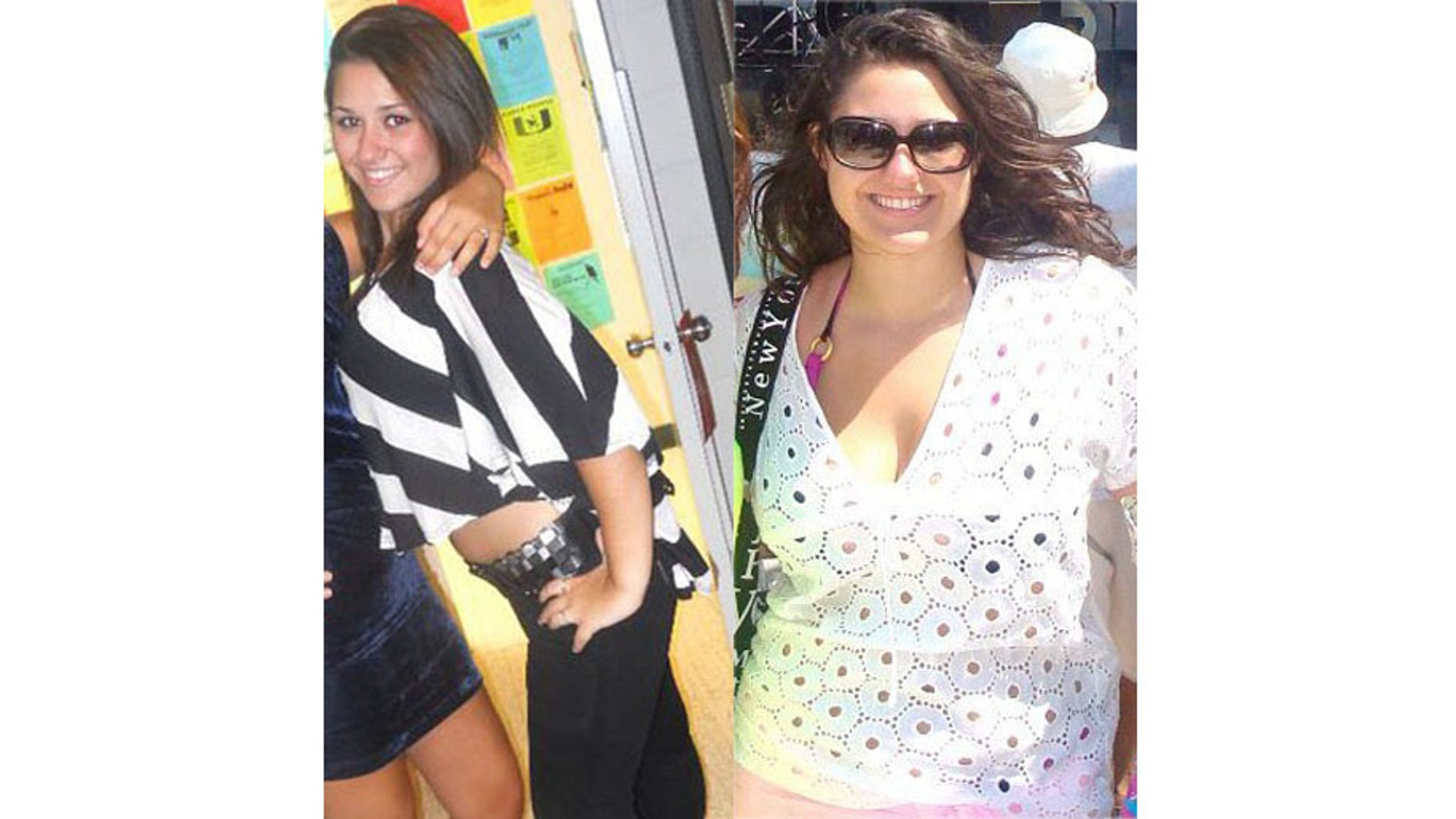 Left: August 2011, 155 LBS Right: May 2012, 206 LBS