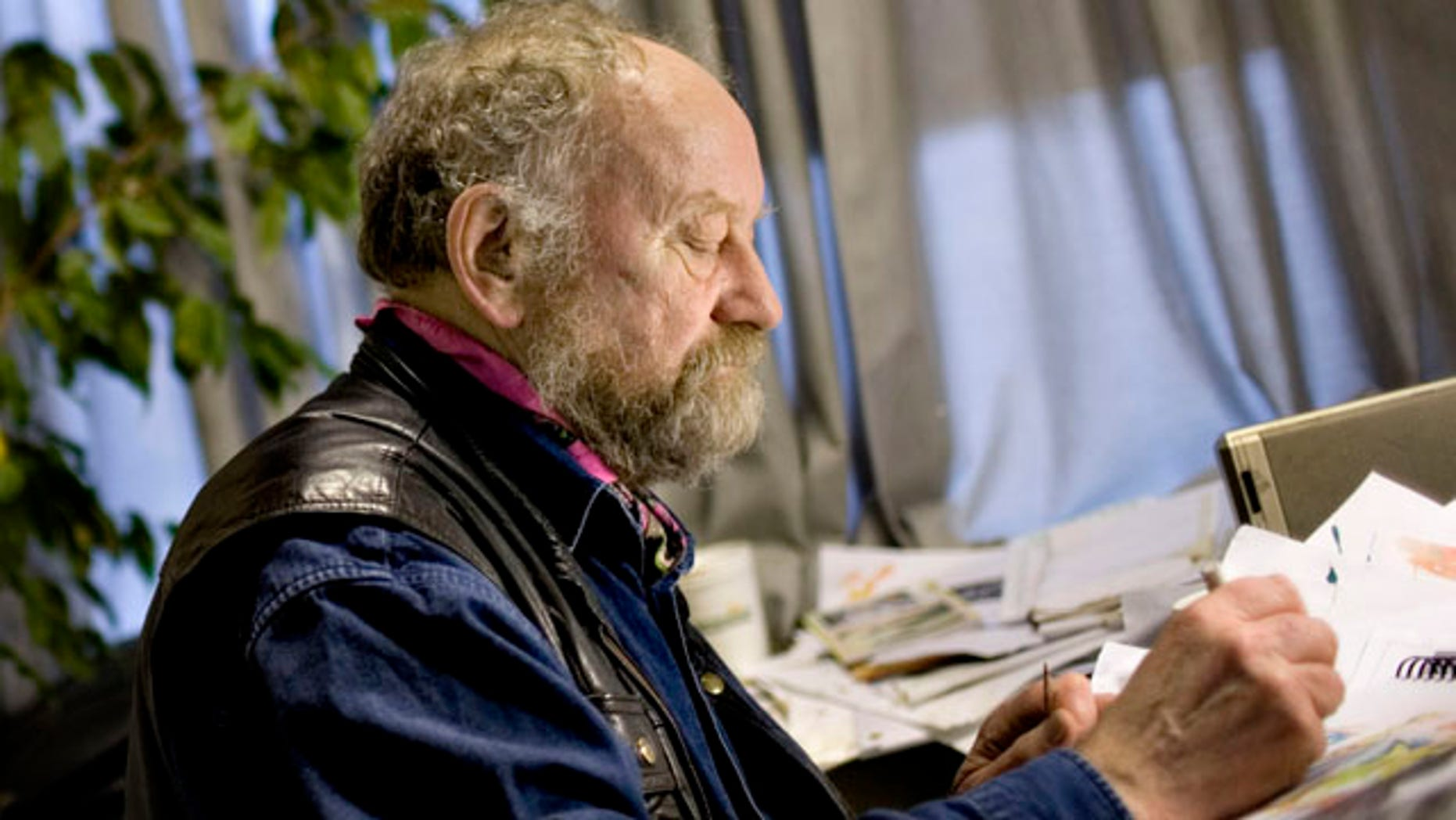 """Danish cartoonist Kurt Westergaard. the cartoonist who caricatured the Prophet Muhammad says he is quitting because he is getting old. Westergaard said """"one has to stop at some point."""" He says he has been working since the age of 23, first as a teacher and then as an artist. He turns 75 on July 13. (AP)"""