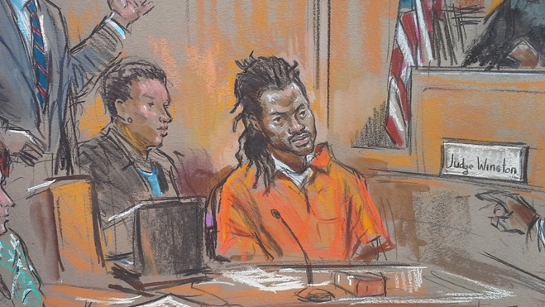 Daron Wint, the man charged with the brutal murders of a Washington D.C. family and their housekeeper.