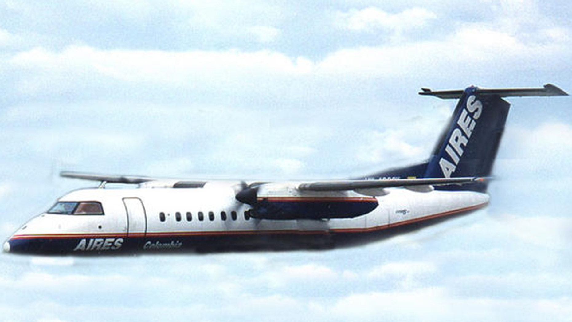 Image of a Dash 8 similar to the one that crashed in Colombia.