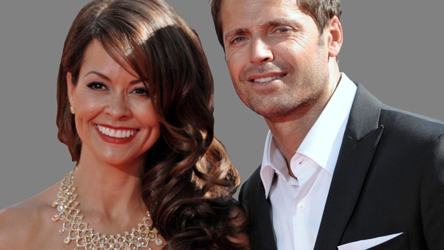 Brooke Burke, left, and David Charvet arrive for the 62nd Primetime Emmy Awards Sunday, Aug. 29, 2010, in Los Angeles.