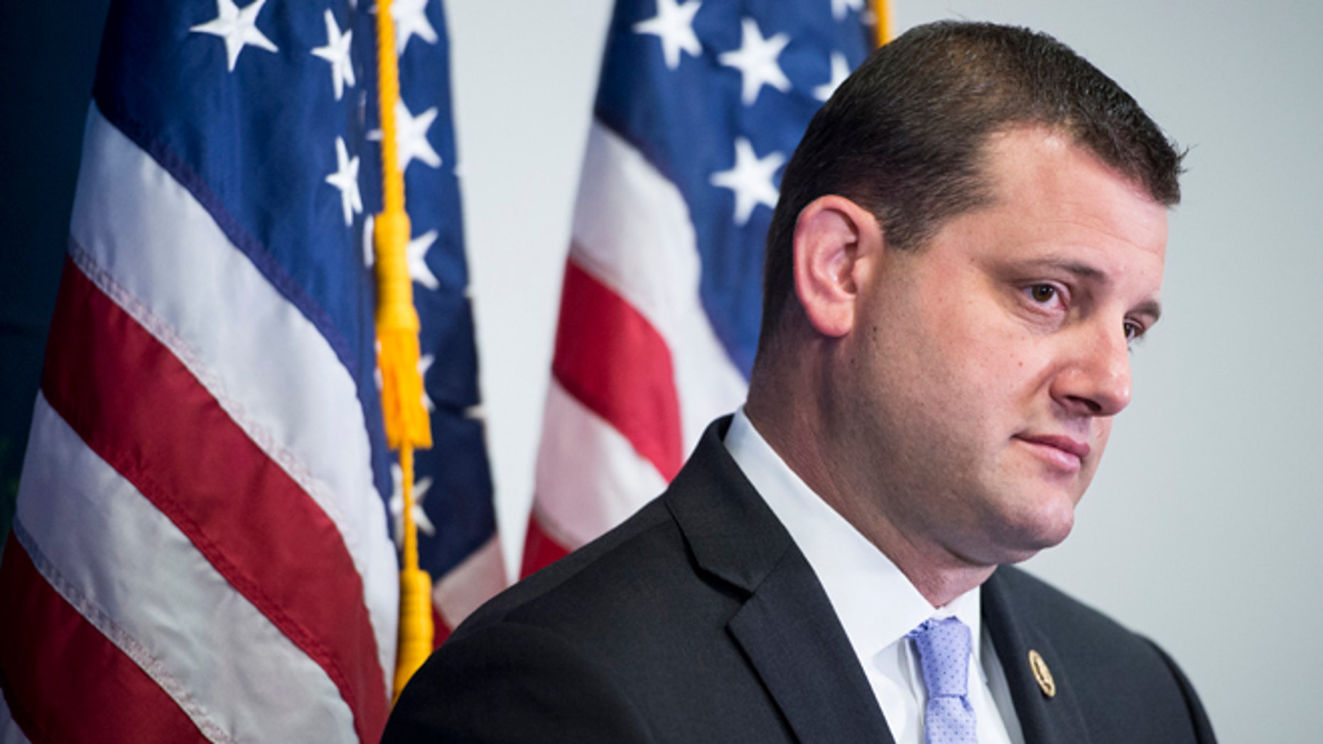 UNITED STATES - JULY 14: Rep. David Valadao, R-Calif., participates in the House GOP leadership media availability following the House Republican Conference meeting in the Capitol on Tuesday, July 14, 2015. (Photo By Bill Clark/CQ Roll Call)