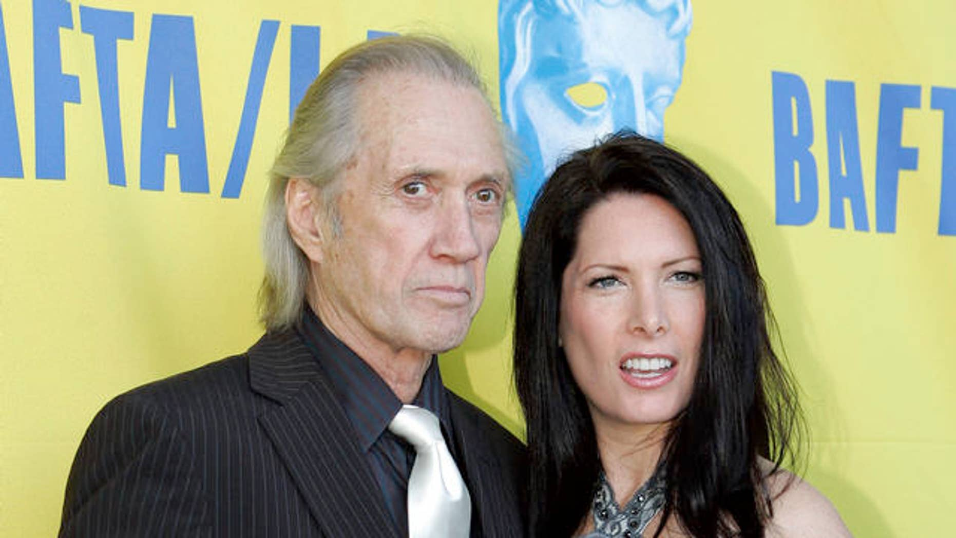 FILE: David Carradine and Annie Bierman in 2005 (AP)
