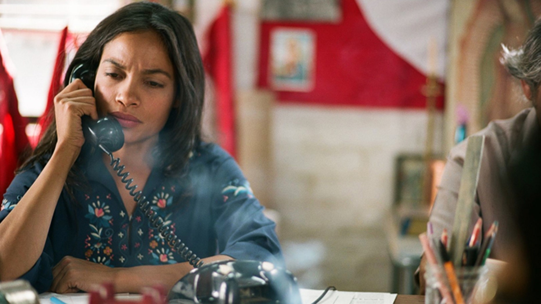 """This photo released by Pantelion Films shows Rosario Dawson as Dolores Huerta, in a scene from """"Cesar Chavez."""" The movie opens Friday, March 28, 2014, after its premieres at the Berlin Film Festival and South by Southwest, and after a special screening with Barack Obama at The White House. (AP Photo/Pantelion Films)"""