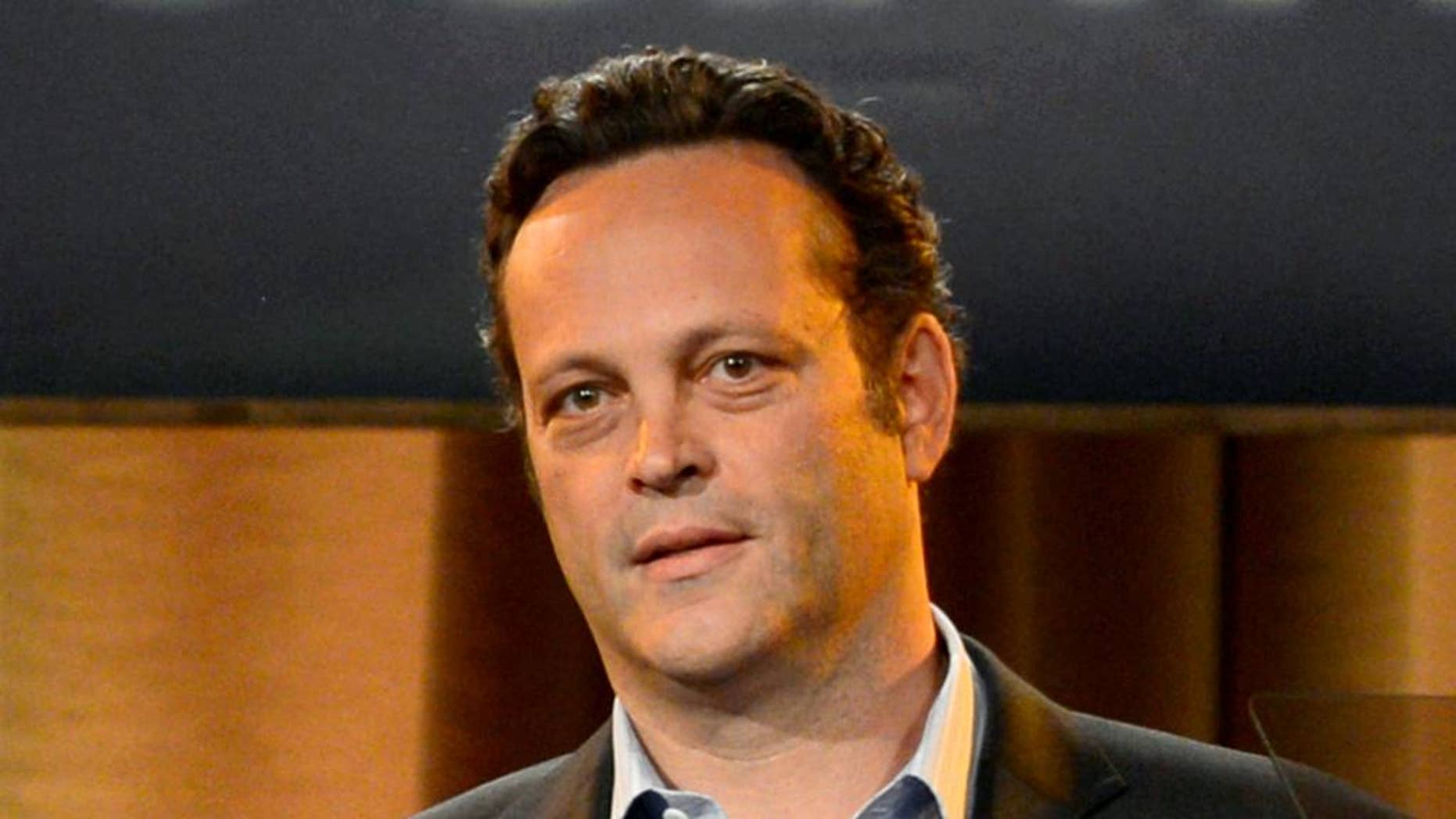 """FILE - This Aug. 13, 2013, file photo shows Vince Vaughn at the Hollywood Foreign Press Association Luncheon in Beverly Hills, Calif. Vaughn, who starred in the movies """"Wedding Crashers,"""" """"Old School"""" and """"Swingers,"""" will serve as grand marshal for the upcoming Daytona 500.  (Photo by Chris Pizzello/Invision/AP, File)"""