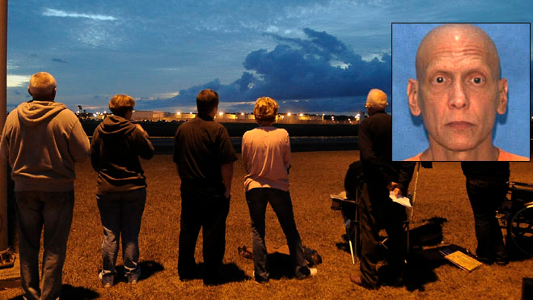 Dec. 11: Death penalty protestors watch the Florida State Correctional facility near Starke, Fla., as they wait for the execution of  Manuel Pardo, 56.