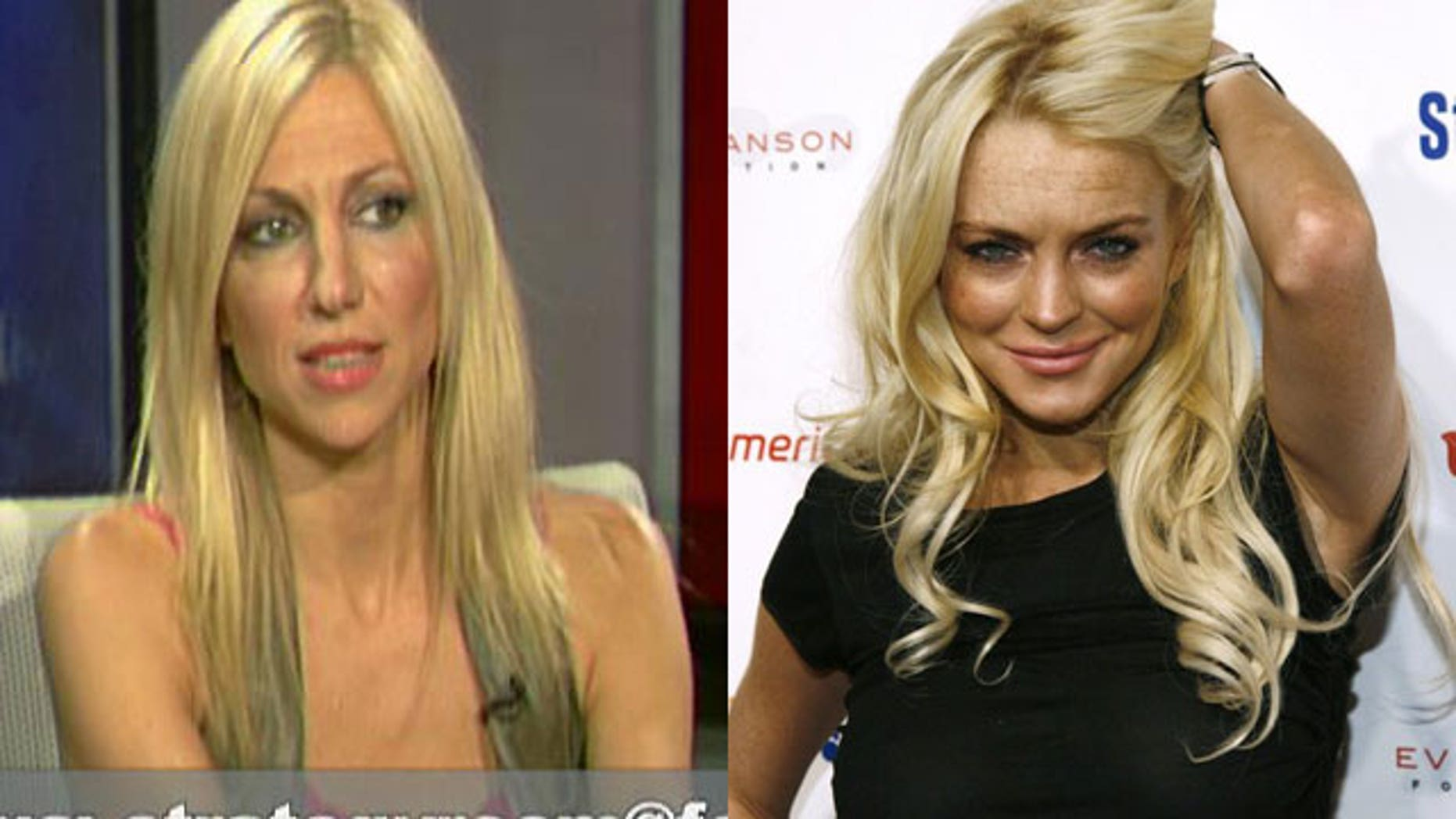 Debbie Gibson (L) says a strong foundation kept her out of trouble, unlike actress Lindsay Lohan.