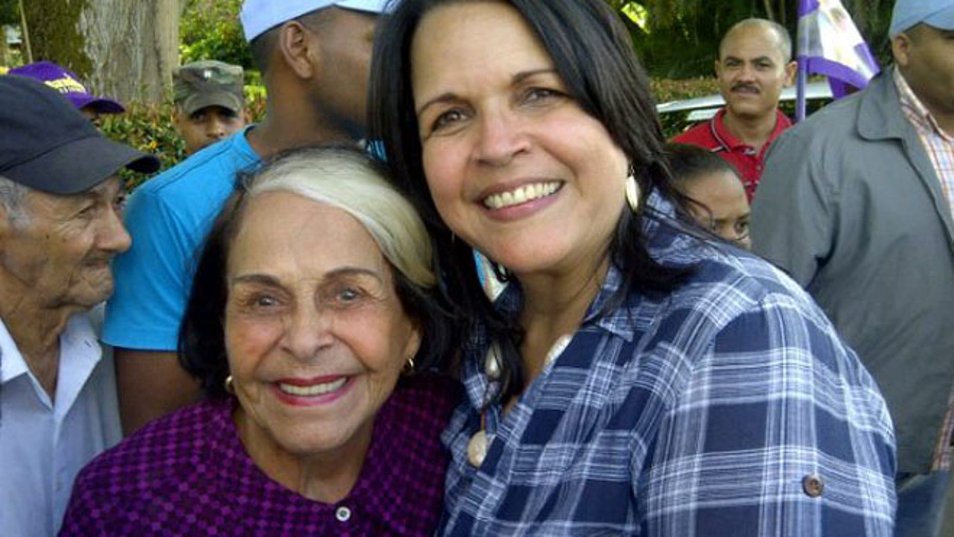 "Belgica ""Dede"" Mirabal and her niece Minou Tavarez Mirabal, a congresswoman in the Dominican Republic."