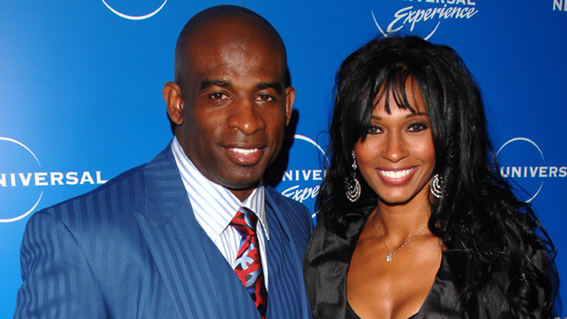 May 12, 2008: Deion Sanders and Pilar Sanders attend the NBC Universal Experience at Rockefeller Center in New York.