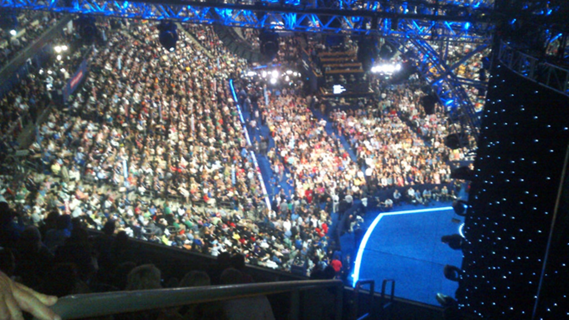 Sept. 6, 2012: Delegates fill the convention hall ahead of President Obama's acceptance speech.