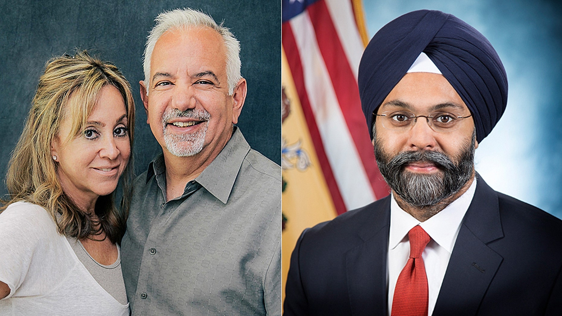 New Jersey Radio Hosts Dennis Malloy and Judi Franco, left, were taken off air after calling New Jersey Attorney General Gurbir Grewal 'Turban Man.'