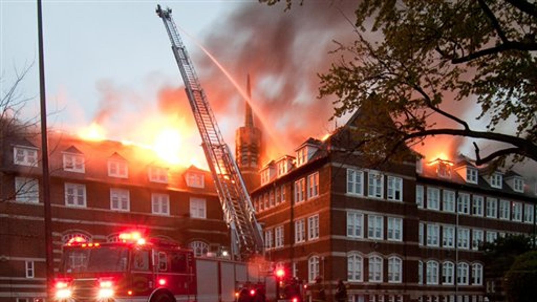 May 10: Fire tears through Detroit public magnet school Paul Robeson Academy on Tuesday.