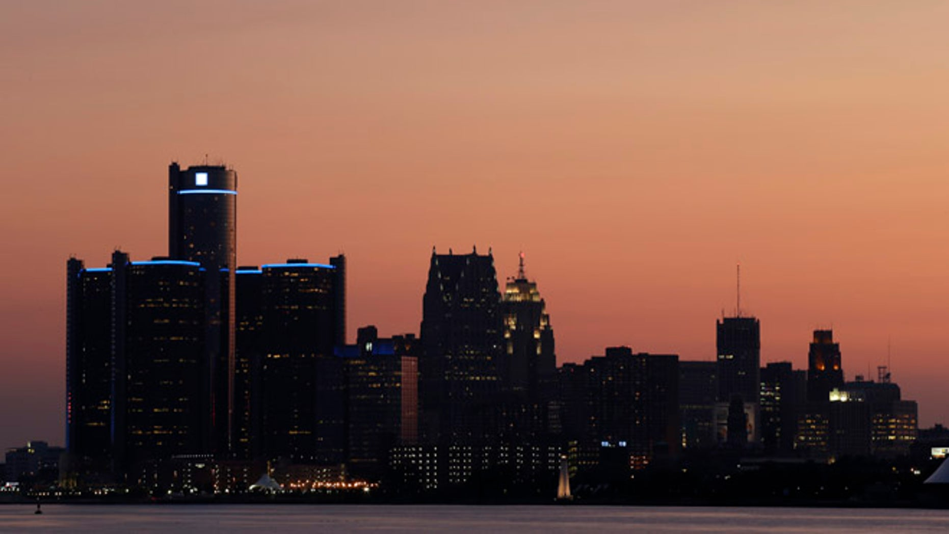 July 18, 2013: The sun sets on Detroit.