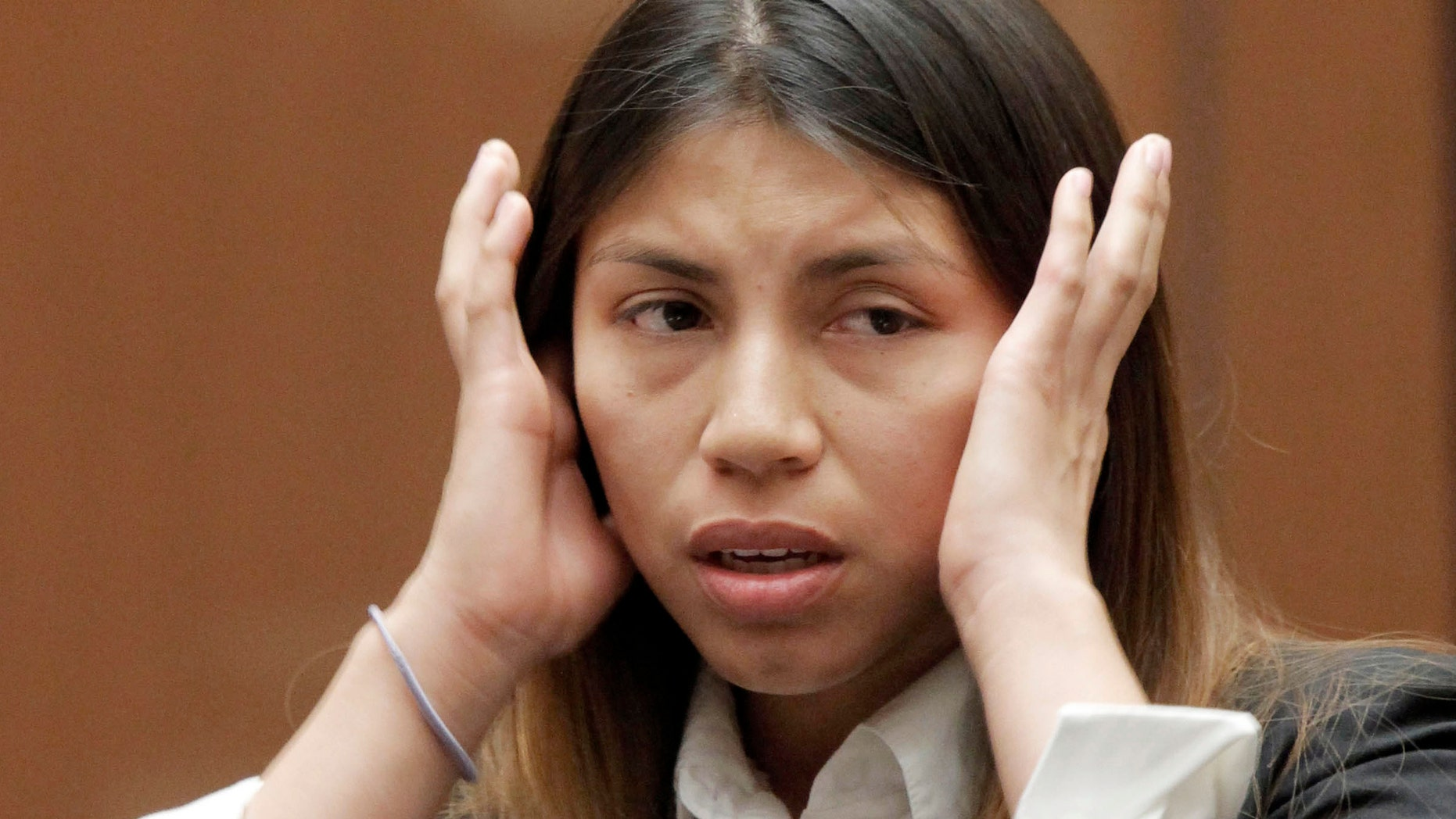 Diana Tamayo is shown in court as she faces burglary charges, Friday Oct. 19, 2012 in Los  Angeles.