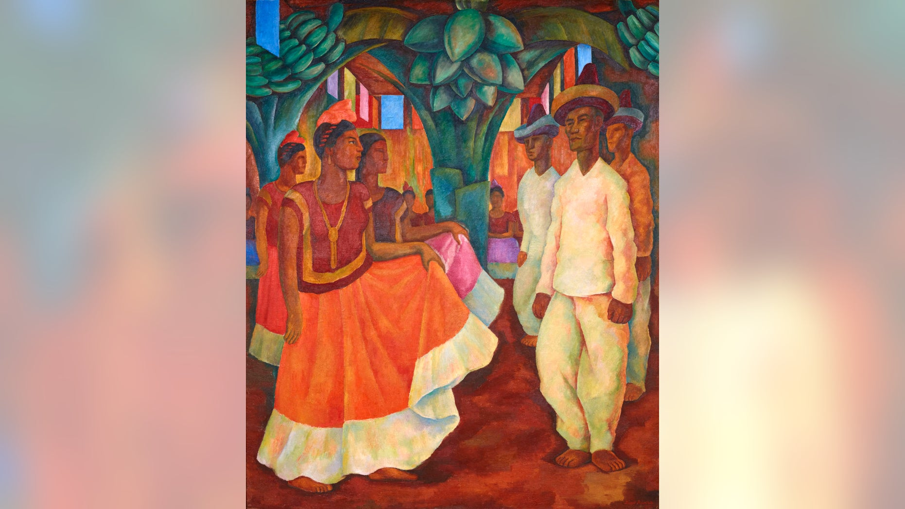 "Diego Rivera's ""Baile en Tehuantepec."""