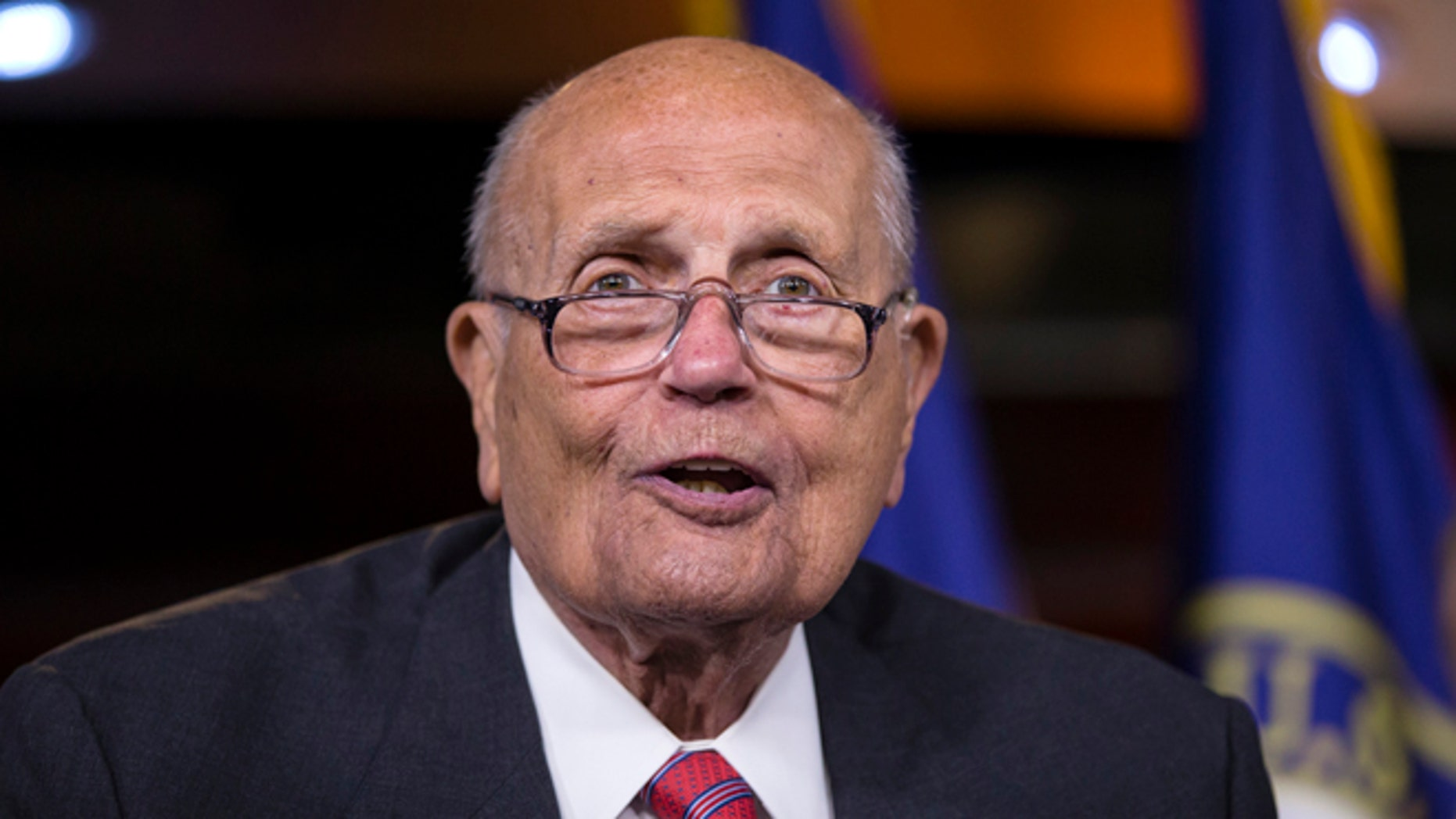FILE: Oct. 4, 2013: Rep. John Dingell, D-Mich. on Capitol Hill in Washington, D.C.