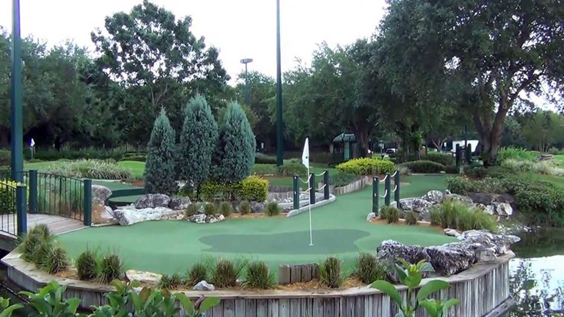 Fantasia Gardens miniature golf course at Disney World in Orlando.