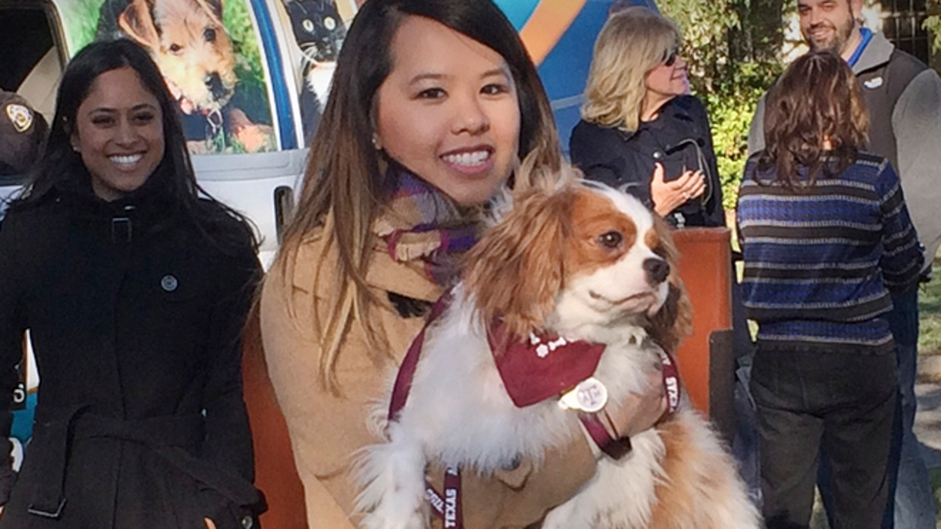 Nov. 1: Ebola survivor Nina Pham is reunited with her dog Bentley at the Dallas Animal Services Center in Dallas.
