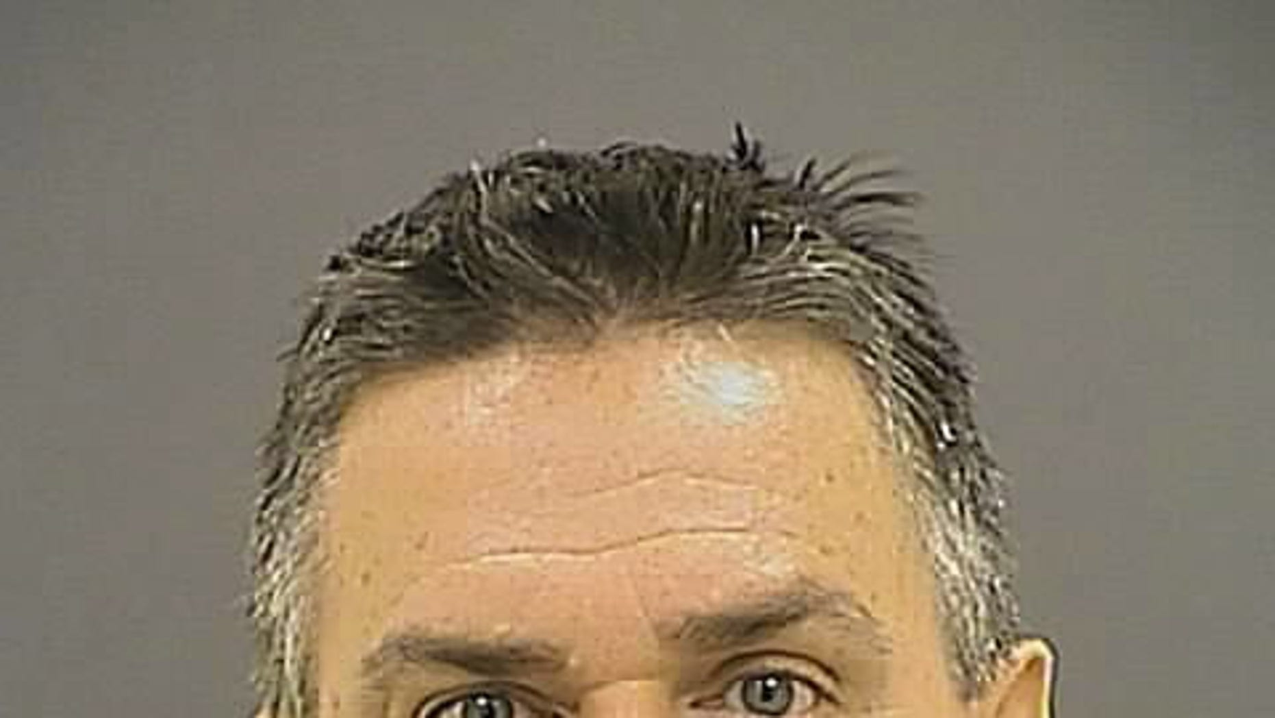 This booking photo provided by the Baltimore Police Department shows Jeffrey Bolger, 49, of Eldersburg, Md.  Bolger, a Baltimore police officer faces trial July 28, 2014 on animal cruelty charges for allegedly cutting the throat of a dog that had been restrained after biting a woman. The female Shar-Pei died from blood loss Saturday, June 14, 2014. Witnesses said Bolger cut her throat with a knife after saying he was going to gut the dog. He was at the scene to assist other officers after one said the dog was foaming at the mouth and appeared to be malnourished.  (AP Photo/Baltimore Police Department)