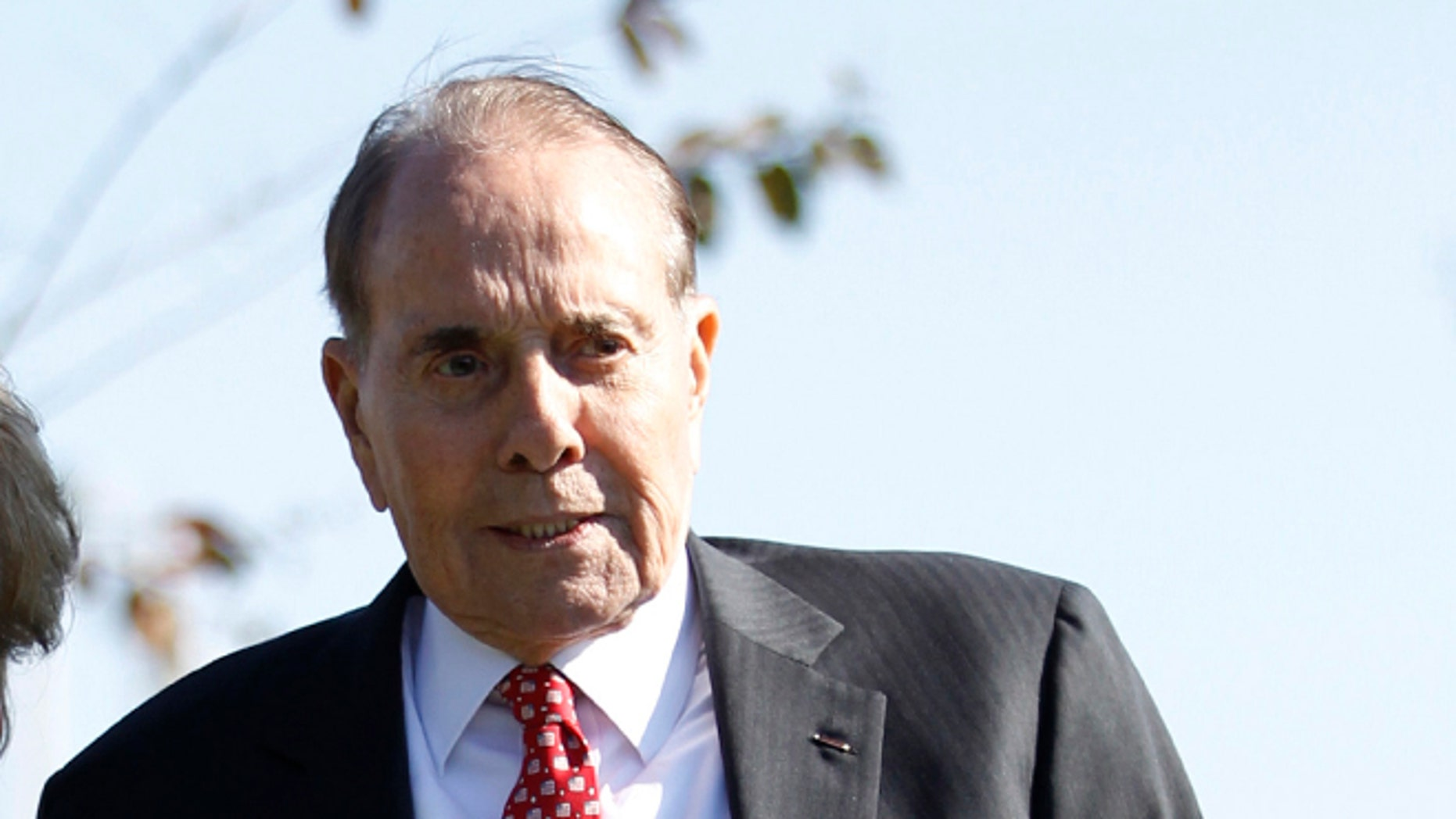FILE: November 1, 2011: Former Sen. Bob Dole, R-Kansas, at Ronald Reagan National Airport near Washington, D.C.