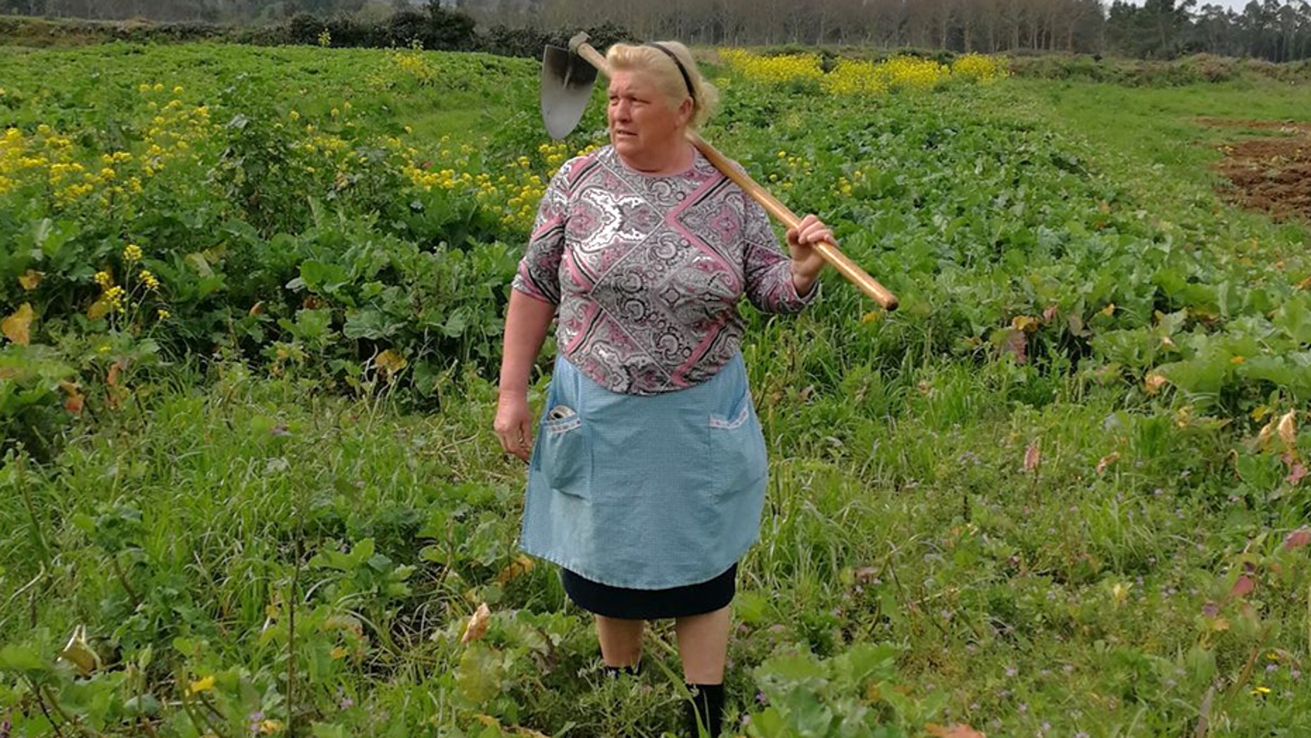 Spanish farmer Dolores Leis Antelo has been drawing comparisons to President Donald Trump ever since a photo of her started going viral last week.