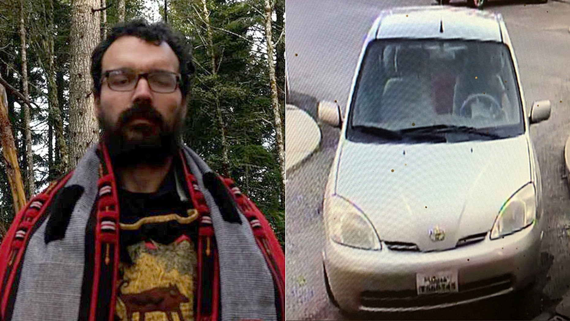 Domenic Micheli left in a older model small silver Toyota Prius or Yaris after hacking his ex-boss to death with a hatchet, according to police.