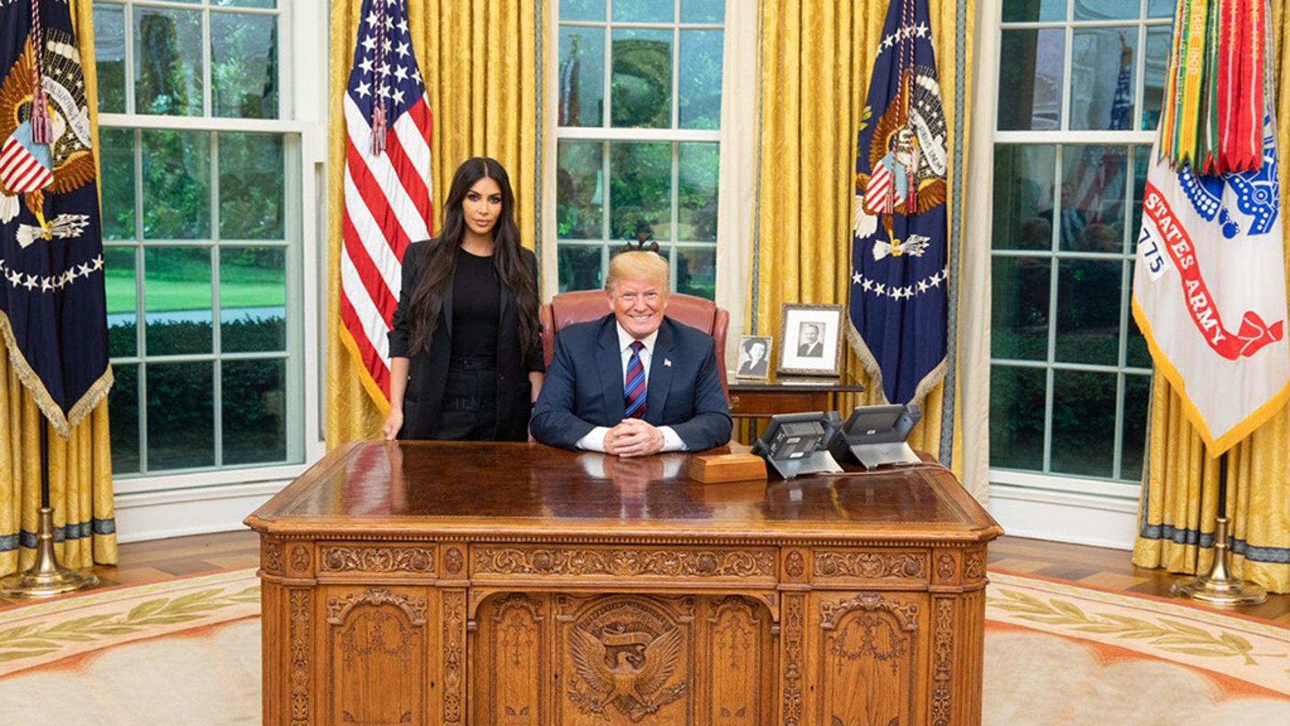 Kim Kardashian met with Donald Trump in the Oval Office to talk about pardoning the Alice Marie Johnson who had served 20 years in prison for crimes connected to a local drug ring.